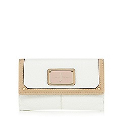 J by Jasper Conran - White grained medium purse