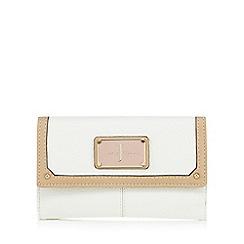 J by Jasper Conran - White grained medium purse