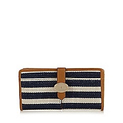 J by Jasper Conran - Navy striped large tab over purse