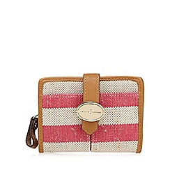J by Jasper Conran - Dark pink striped medium tab over purse