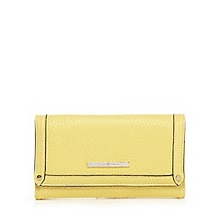 J by Jasper Conran - Yellow grained leatherette purse