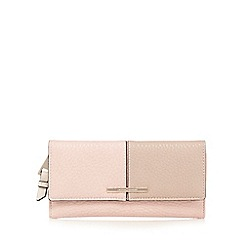 J by Jasper Conran - Light pink colour block large purse