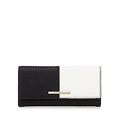 J by Jasper Conran - Black and white colour block large purse