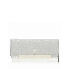 J by Jasper Conran - Grey large flap-over purse