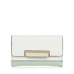 J by Jasper Conran - Light green colour block medium purse