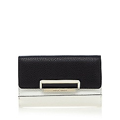 J by Jasper Conran - Black grained colour block medium purse