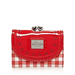 Floozie by Frost French - Red gingham print clasp purse