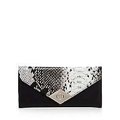 Star by Julien Macdonald - Black snakeskin-effect envelope purse