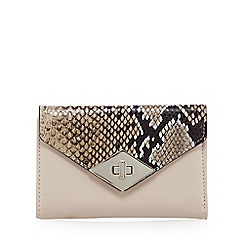 Star by Julien Macdonald - Pale pink snakeskin-effect purse