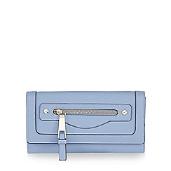 Star by Julien Macdonald - Pale blue zip pocket large purse
