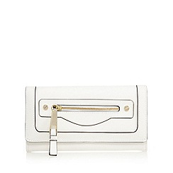 Star by Julien Macdonald - White zip pocket large purse