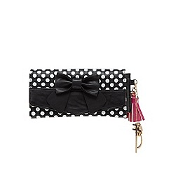 Floozie by Frost French - Black spotty flap-over large purse