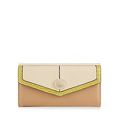 Star by Julien Macdonald - Tan colourblock large flapover purse