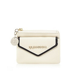 RJR.John Rocha - Cream contrast edge small coin purse
