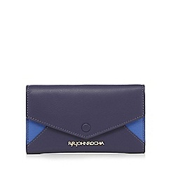 RJR.John Rocha - Navy leather colour block purse