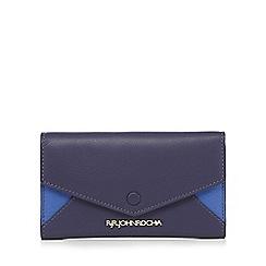 RJR.John Rocha - Navy leather colour block purse
