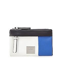 Principles by Ben de Lisi - Blue colour block fold over purse
