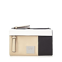 Principles by Ben de Lisi - Beige colour block fold over purse