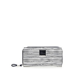 Principles by Ben de Lisi - Navy striped print zip around purse