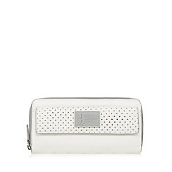 Betty Jackson.Black - White perforated large purse
