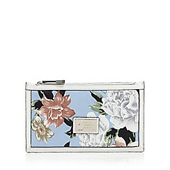 Betty Jackson.Black - White floral wristlet