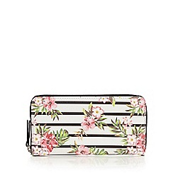 Call It Spring - White 'Almighty Stripe Floral' purse