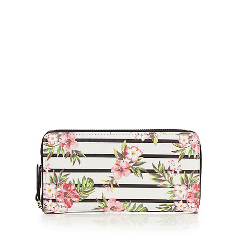 Call It Spring - White +Almighty Stripe Floral+ purse