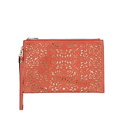 Call It Spring - Coral 'Arjoan' cut-out wristlet