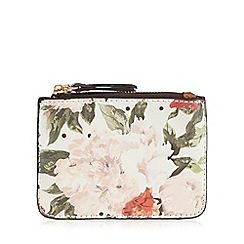 Call It Spring - White spotted floral print coin purse