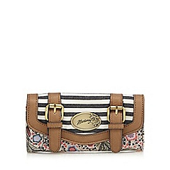 Mantaray - Light pink paisley large flap over purse