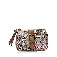 Mantaray - Coral paisley print buckle detail coin purse