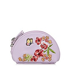 Mantaray - Lilac butterfly applique dome coin purse