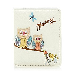 Mantaray - Cream owl applique card holder