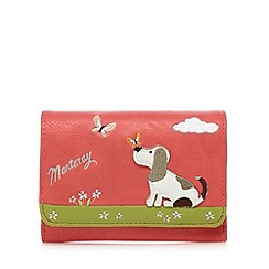 Mantaray - Coral dog applique medium flap over purse