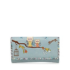 Mantaray - Blue owl applique large flap over purse