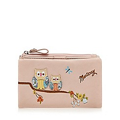 Mantaray - Light pink zip top purse