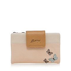 Mantaray - Light pink butterfly applique zip top purse
