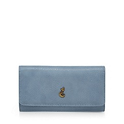 Mantaray - Light blue fox stud large flap over purse