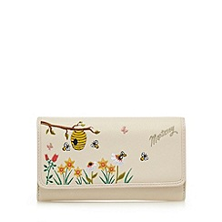 Mantaray - Cream beehive applique large flap over purse
