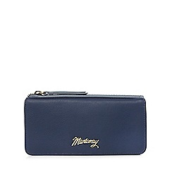 Mantaray - Navy leather contrast purse