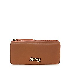 Mantaray - Tan leather contrast purse