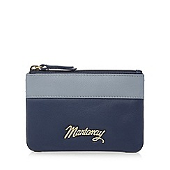 Mantaray - Navy leather contrast trim coin purse