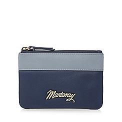 Mantaray - Navy leather contrast trim coin purse
