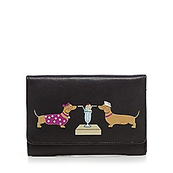 The Collection - Black leather sausage dog sundae purse