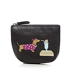 The Collection - Black leather sausage dog sundae coin purse