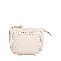 The Collection - Pink leather stitch detail coin purse