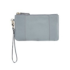 The Collection - Light blue leather large purse