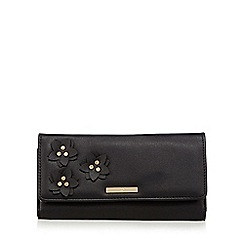 The Collection - Black floral applique large purse