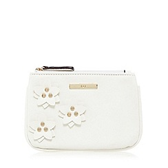 The Collection - White floral applique coin purse