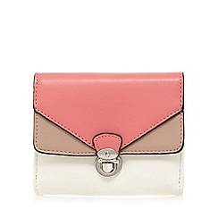 The Collection - Coral colour block purse
